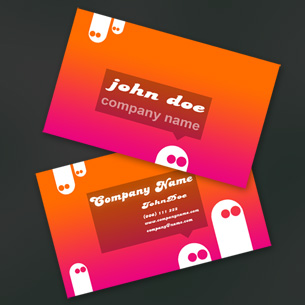 Set fresh business cards free cartoon business cards colourmoves