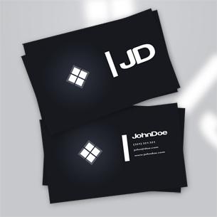 Dark Business Card