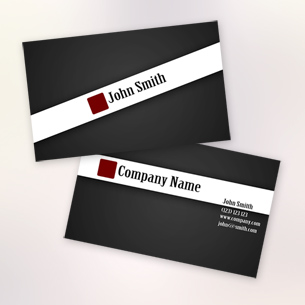 Black Stylish Business Card