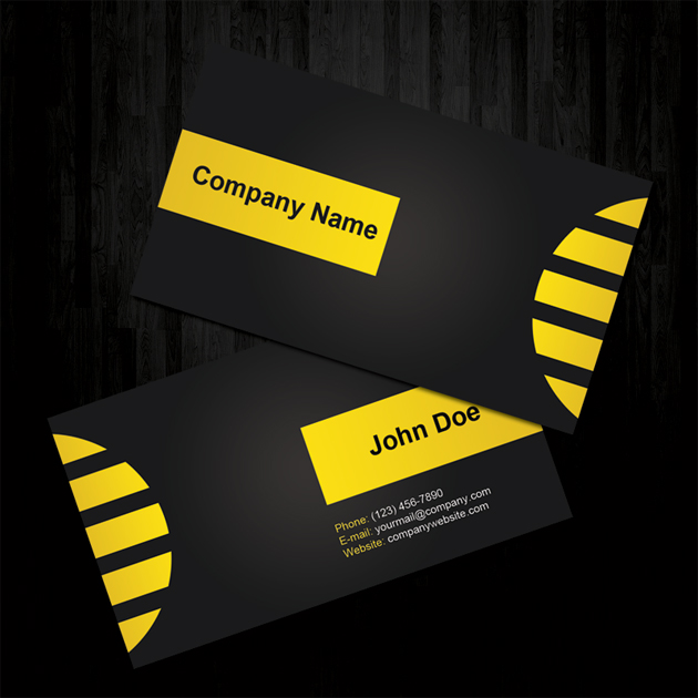 Yellow beautiful business cards unique business cards colourmoves