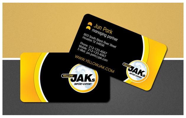 Yellow beautiful business cards unique business cards design by synaestheta design by itudor colourmoves
