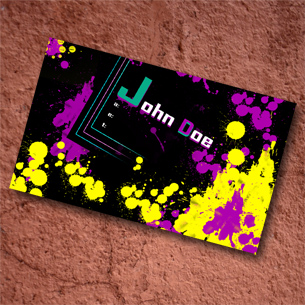 Splatter Business Card Template