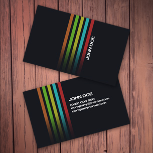 Simple Dark Business Cards
