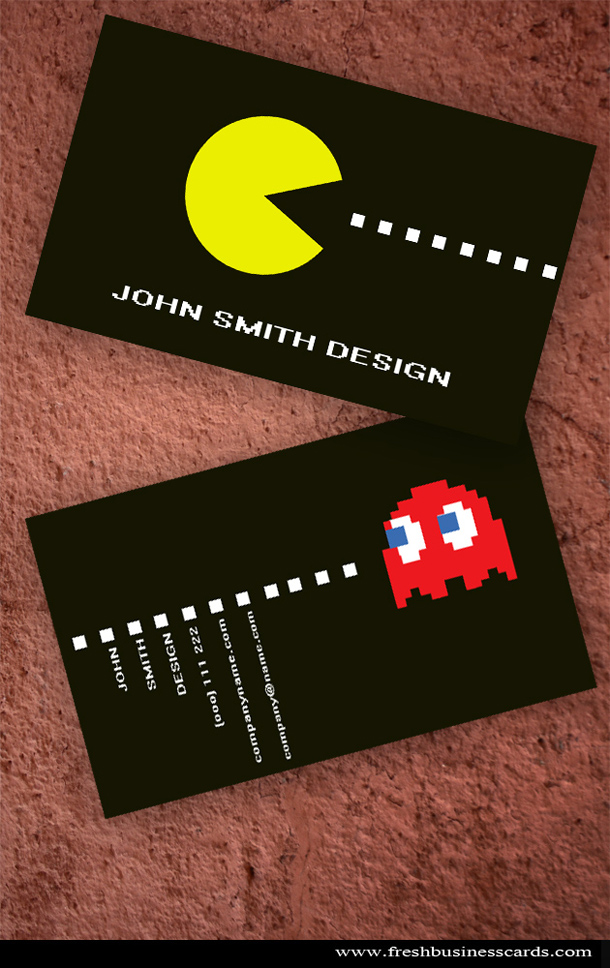 Pacman business card unique business cards size reheart Image collections