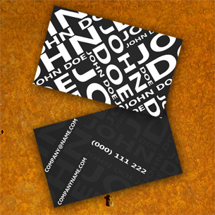 Black Modern Biz Card