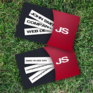 Modern Red Business Card