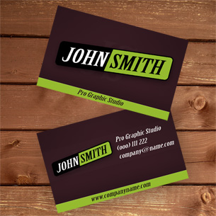 Premium and unique business card templates part 12 modern green business card reheart Images