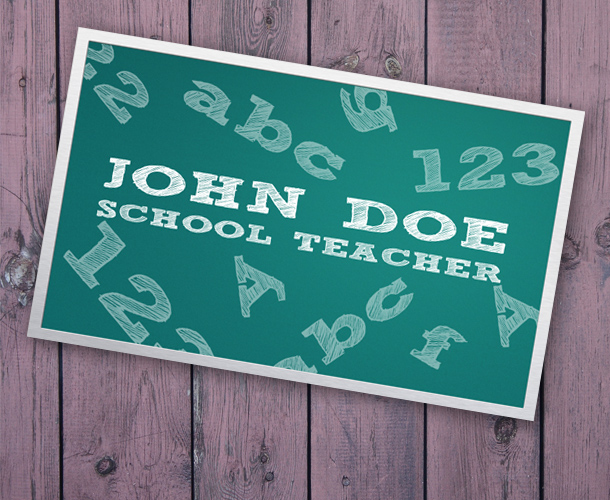 Business card for teacher unique business cards size fbccfo Choice Image