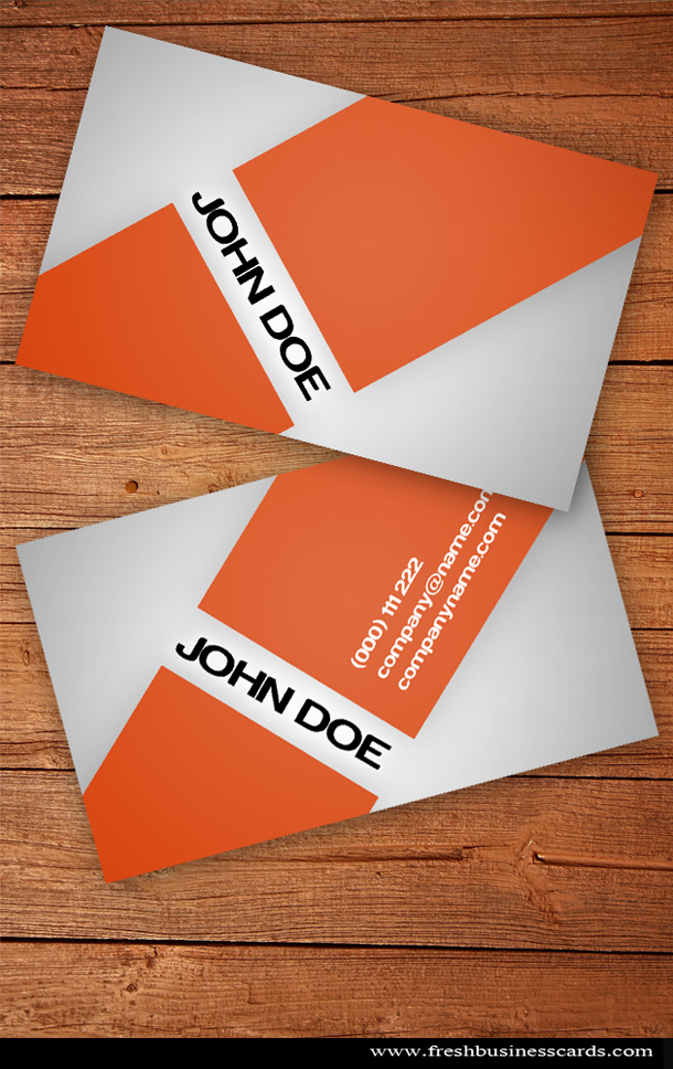 Orange business card unique business cards orange business card reheart Image collections