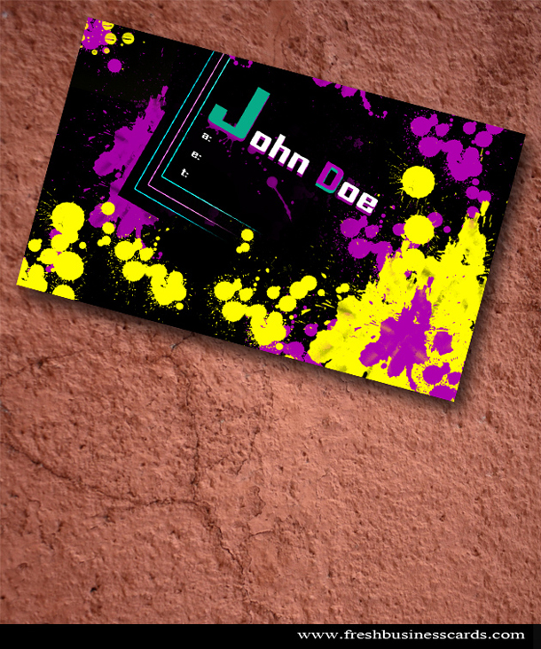 Splatter Business Card Template Unique Business Cards - Painter business card template