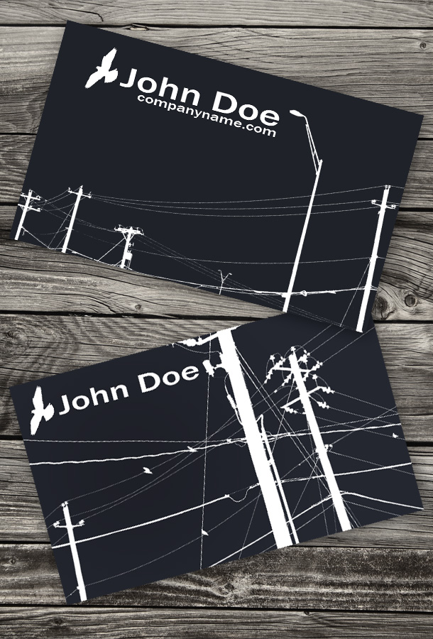 business card for electrician - Electrician Business Cards