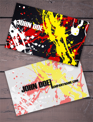 Splatter Business Cards