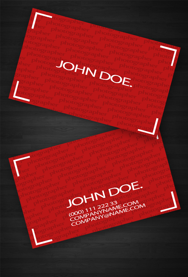Red Business Card Template Unique Business Cards