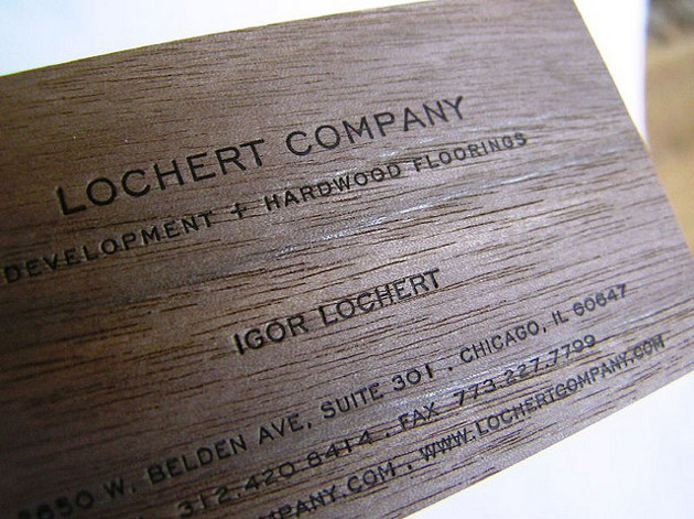24 wooden business card designs unique business cards business card designed by lochert company 9 reheart Choice Image