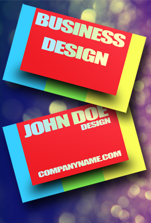 Colorful Business Cards