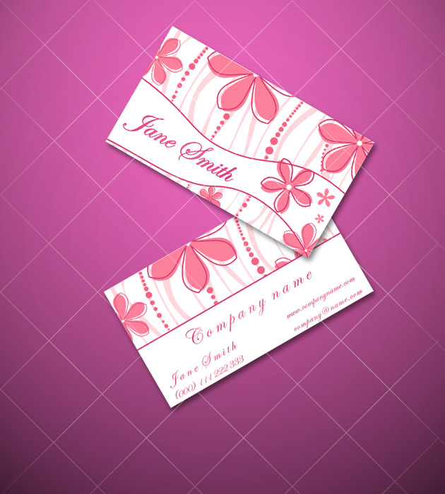 premium pink business cards