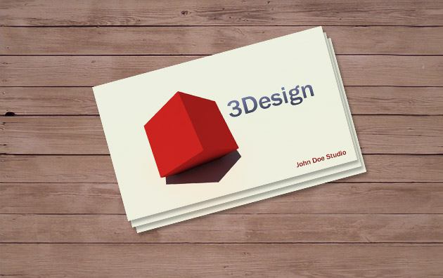 3d business card template - 3 D Business Card