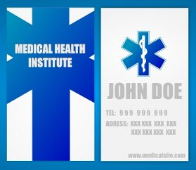Two-Sided Medical Business Card