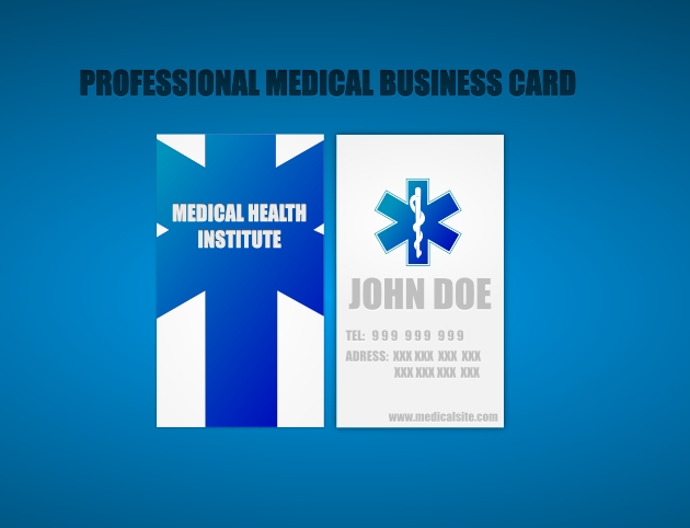 Two sided medical business card unique business cards cool medical business cards wajeb Image collections