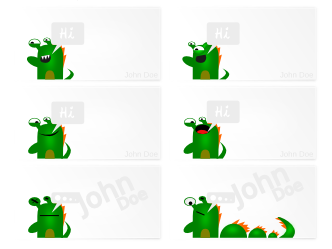 Green Monster Premium Business Cards
