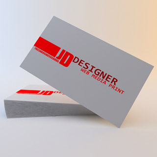 Business Card with Red Stripe