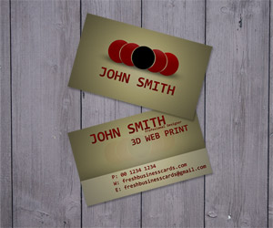 Brown Business Card Template