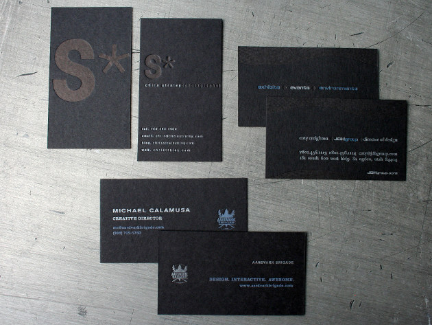 35 awesome black business cards unique business cards 2 reheart Image collections