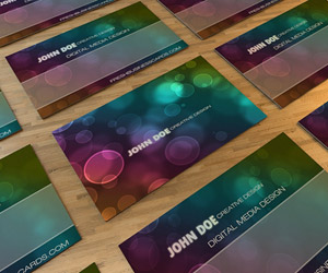 Bokeh Business Card III