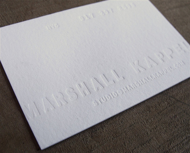 white letterpress business card - Letterpress Business Cards