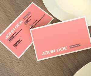Premium and unique business card templates part 4 pink business card reheart Images