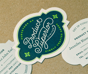 30 Die Cut Business Cards