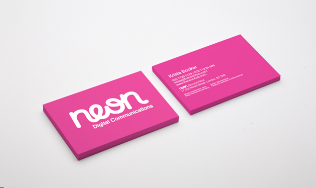 30 examples of neon business cards unique business cards neon colours business cards by young 2 reheart Gallery