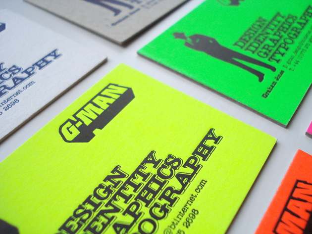 30 examples of neon business cards unique business cards neon business cards g man77 19 reheart Choice Image