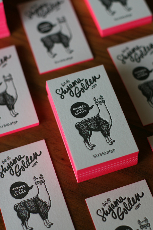 30 Examples of Neon Business Cards | Unique Business Cards