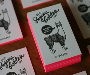 30 Examples of Neon Business Cards