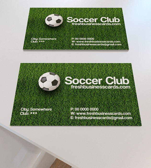 Soccer Business Card