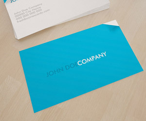 Blue Business Card for Printing House