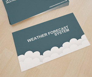 Premium Cloud Business Card