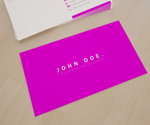 Premium Pink Business Card Template