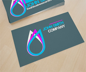 Business Card With Drop Logo
