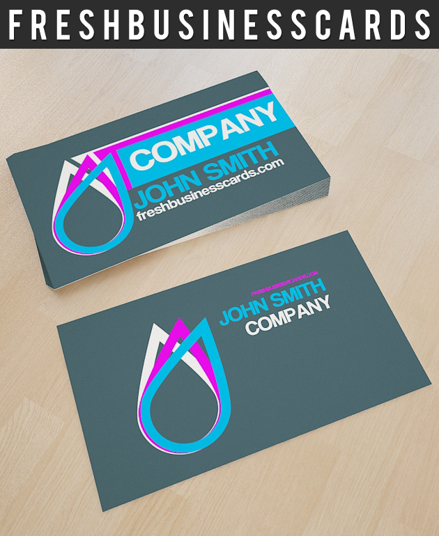 Business Card With Drop Logo | Unique Business Cards