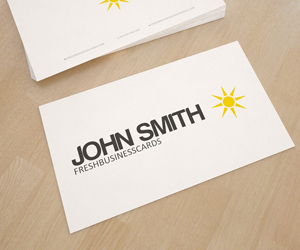 White Business Card with Logo