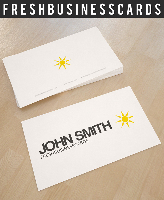white business card with logo unique business cards