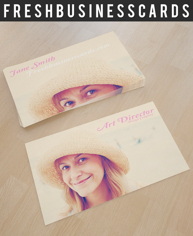 Photo Business Card Template