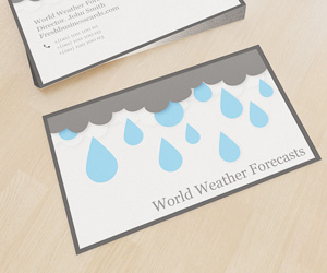 Weather Business Card