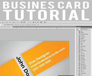 Orange Business Cards Tutorial